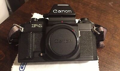 Canon New F1 Camera-AE Finder FN-Excellent Condition-New Light Seals-Film Ready