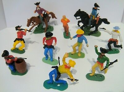 Timpo Copies Hong Kong Wild West Cowboys & Horses Plastic Toy Figure Lot