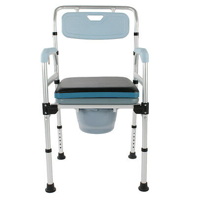 Commode Chair Bedside Padded Toilet Frame & Shower Chair Medical Transfer Seat