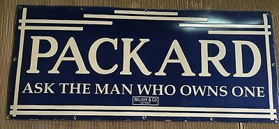 "Porcelain PACKARD Sign SIZE 48"" X 21"" INCHES"