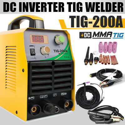TIG Welder 220V  TIG/ARC MMA Stick Welder 200A DC Welding Machine