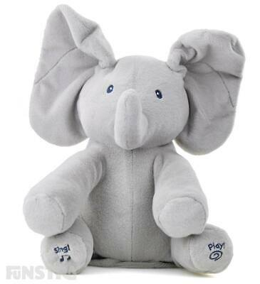 Flappy the Elephant Animated Plush Toy Sings & Plays Peek-a-boo Singing Talking