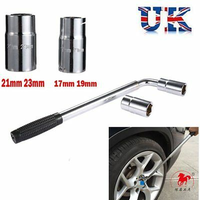 Extendable Wheel Brace Hand Wrench Telescopic Car Socket Tyre Nut 17/19/21/23mm