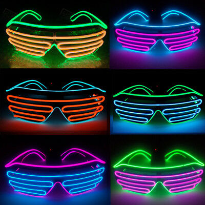 6 Colors LED Light Up Sunglasses Shades Flashing Blink Glow Glasses Party Rave
