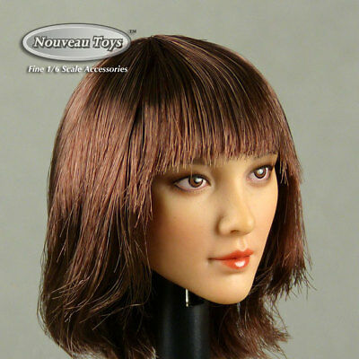 1//6 Scale Asian Female Head Sculpt Model CT008A F 12/'/' Action Figure Body Gift