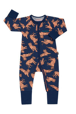 Bonds Baby Long Sleeve Zip Wondersuit Romper size 00 0 1 Colour Tiger Tribe Blue