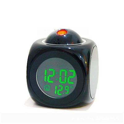 Multi-Function Digital LED Projection Alarm Clock With LCD Display Voice Talking