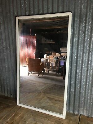 Large antique framed mirror