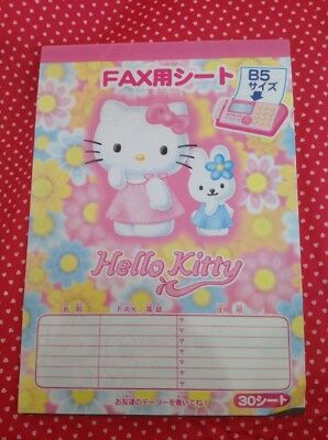 ganz seltener Hello Kitty Vintage Hello Kitty Fax Block, sehr Rar