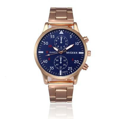 Migeer Steel Band Quartz Men's Wristwatches Couple Lover Gifts Watches