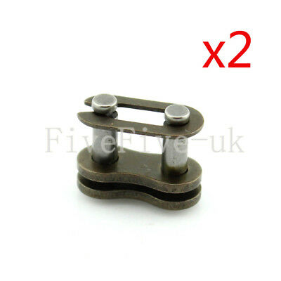 2 PCS 04C-1 Chain Connector 6.35mm Pitch for #25 Roller Sprocket Chain