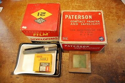 Various vintage photographic processing items