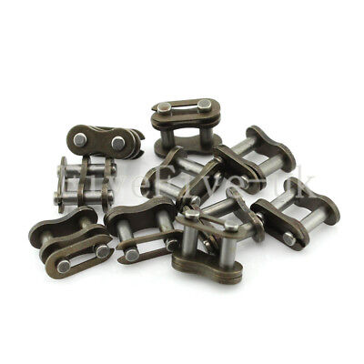 10 PCS 04C-1 Chain Connector 6.35mm Pitch for #25 Roller Sprocket Chain