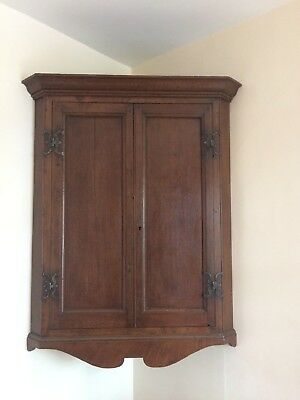 Antique Oak fronted corner cupboard