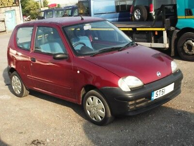 2002 FIAT SEICENTO S 1.1i PETROL MAN 3DR * ONLY 18,494 MILES * SPARES OR REPAIRS