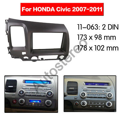 Car Stereo Radio Fascia Dash Panel Trim 2 Din Frame For Honda Civic 2008-2011