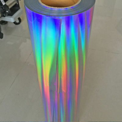 1M Holographic Heat Transfer Vinyl Press Film Colorful Brilliant Color For Cloth
