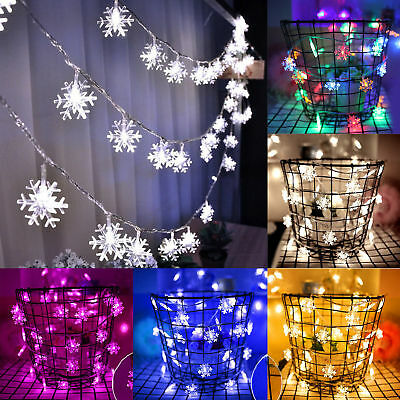 50LED 5M String Fairy Lights Xmas Tree Christmas Party Home Decoration