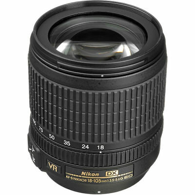 NEW Nikon AF-S DX NIKKOR 18-105mm f/3.5-5.6G ED VR - UK NEXT DAY DELIVERY