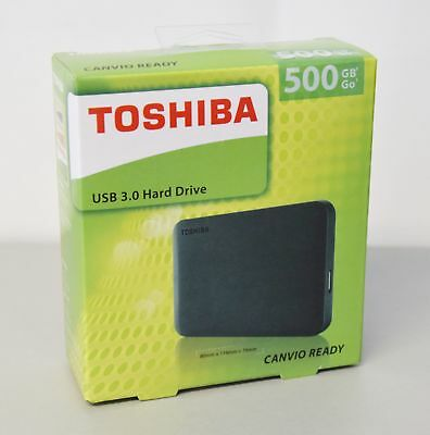 Toshiba Festplatte 500GB Canvio Ready  USB 3.0 black