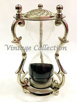 Antique Maritime Brass Hourglass Collectibles Nautical Sand Timer Table Decor