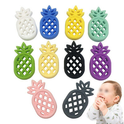 Hot Silicone Pineapple Teether Pendent DIY Teething Baby Safe Chewable Kids Toy