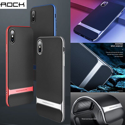 Rock Slim Shockproof Heavy Duty Hybrid Bumper Case Cover For iPhone XS Max XR X