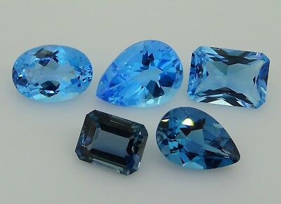 Blue Topaz mixed lot 37.10ct Natural Loose Gemstones.