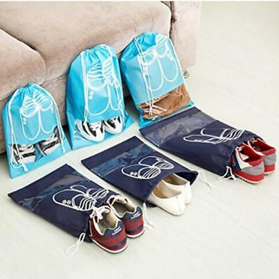 10x Earthwise Shoe Storage Bags with Drawstring For Men - Women LH