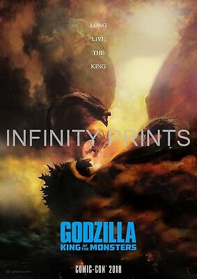 Godzilla King of the Monsters Movie Film Poster A2 A3 A4