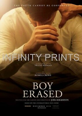 BOY ERASED POSTER A4 A3 A2 A1 CINEMA MOVIE LARGE FORMAT