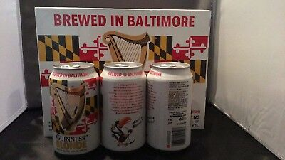Guinness Maryland state flag Guinness Blonde 12 ounce One Bottom Open Beer Can