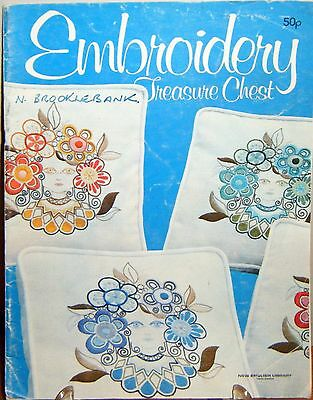 1970s Vintage retro embroidery leaflet - Embroidery Treasure Chest