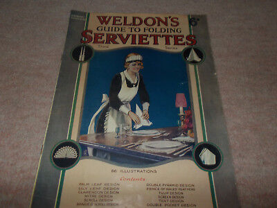 Vintage Weldons Guide to Folding Serviettes Circa early 1900s