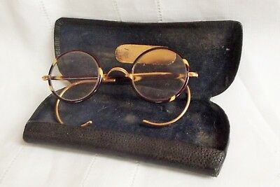 Vintage / Antique Pair of Spectacles / Glasses in Case / lovely rims and arms