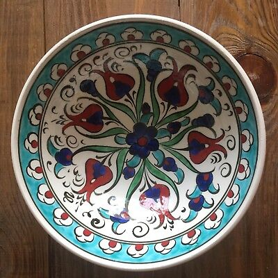 Turkish Ceramic Kutahya Tile Bowl Porcelain Ottoman 16 cm Handmade Unique M19