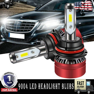 9004 HB1 PHILIPS CSP LED Headlight Bulbs Kit High Low Beam Lamp 8000LM 50W 6500K