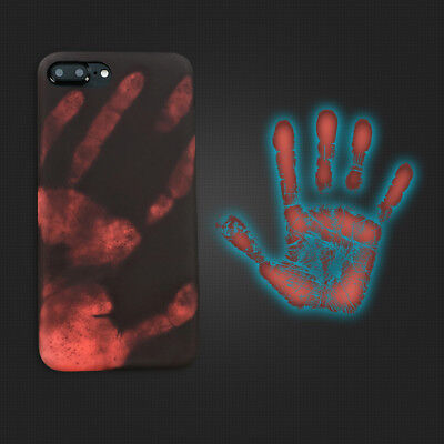 Women Men Thermal Sensor Heat Induction Phone Case Cover for iphone 6s 7 8Plus X