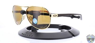 Oakley Feedback Women's Sunglasses OO4079-08 Polished Gold w/ Bronze Polarized