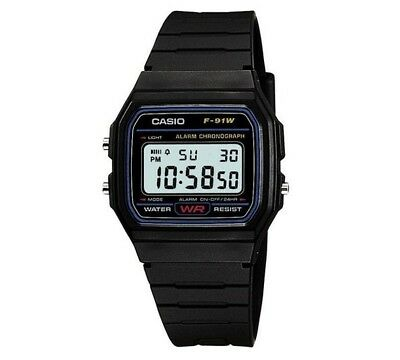 Casio LCD Black Resin Strap Watch 30m Water Resistant Digital Men's Watch