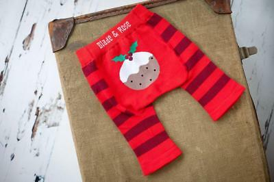 Blade and Rose Christmas Pudding Leggings 0-6 & 6-12 Months, 1-2 & 2-3 3-4 Years