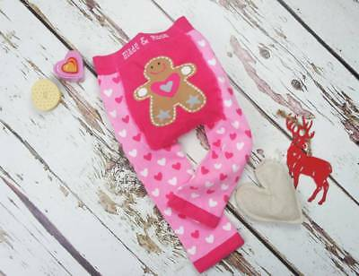Blade & Rose Pink Gingerbread Xmas Leggings 0-6 & 6-12 Months,1-2 & 2-3 3-4 Yrs