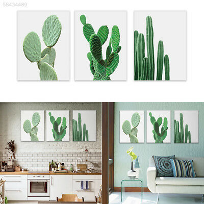 33F3 Cactus Canvas Painting Wall Picture Canvas Room Decoration Tropical