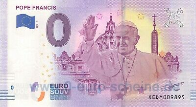 🅾️ Pope Francis Papst Franziskus ◾ XEDY 2018-1 ◾ 0-Euro-Schein Null O€ UNC 🅾️