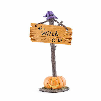 Miniature Dollhouse FAIRY GARDEN - The Witch Is In Sign - Accessories