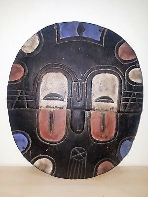 Old Tribal Teke Shield Mask Gabon fes-2345