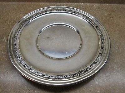"""Vintage Sterling Silver Plate ~  Charger By Julius Randhal 10 1/2""""  No Reserve"""