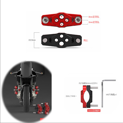 54mm Motorcycle Pressure Code Stent Auxiliary Spotlight Fix Bracket Bumper Clamp