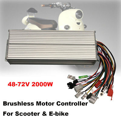 48-72V 2000W Electric Bicycle E-bike Scooter Brushless DC Motor Speed Controller