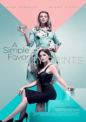 A Simple Favor Movie Film Poster A A3 A4